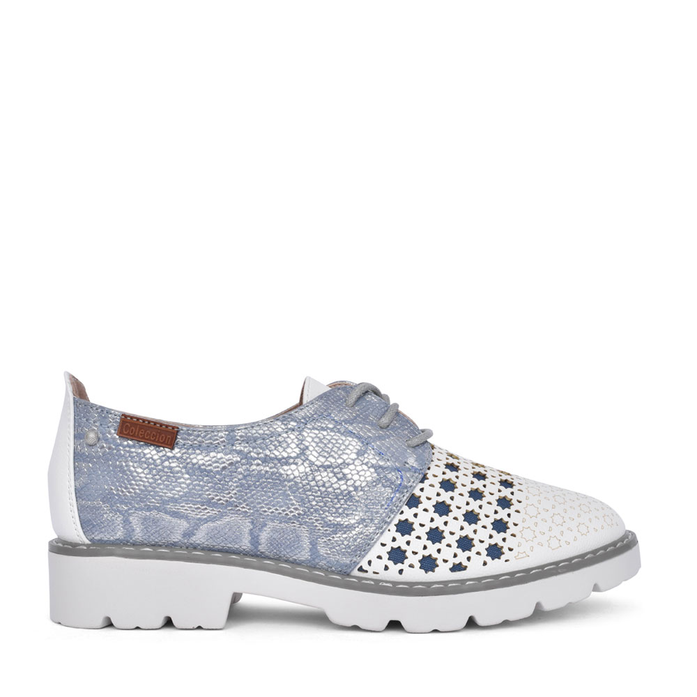LADIES MYSTIC LACE UP SHOE in BLUE
