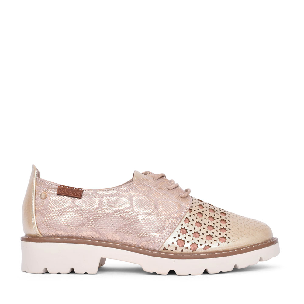 LADIES MYSTIC LACE UP SHOE in ROSE