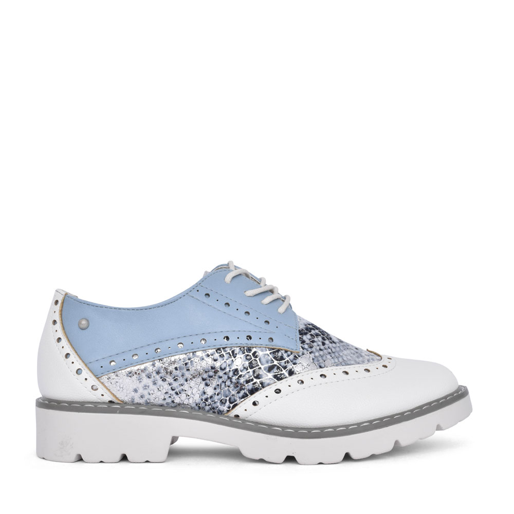 LADIES SIWA BROGUE SHOE in WHITE