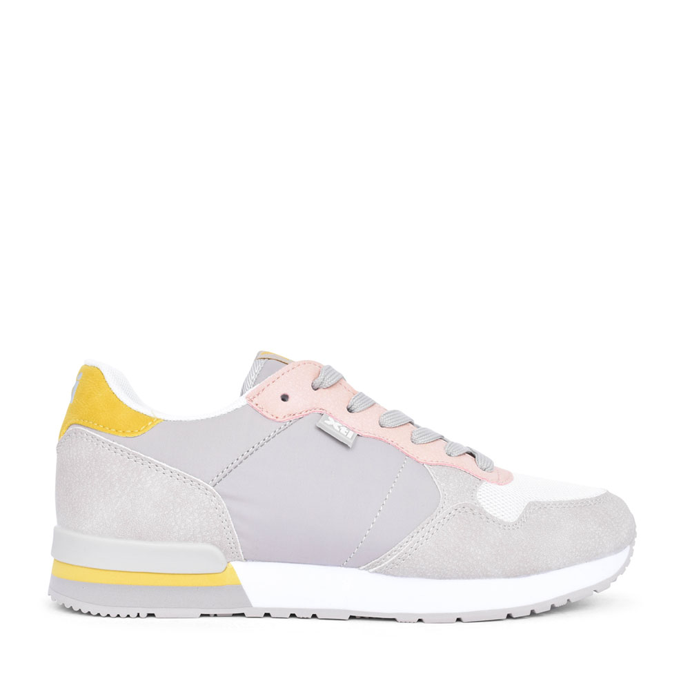 LADIES 42402 LACE UP TRAINER in GREY