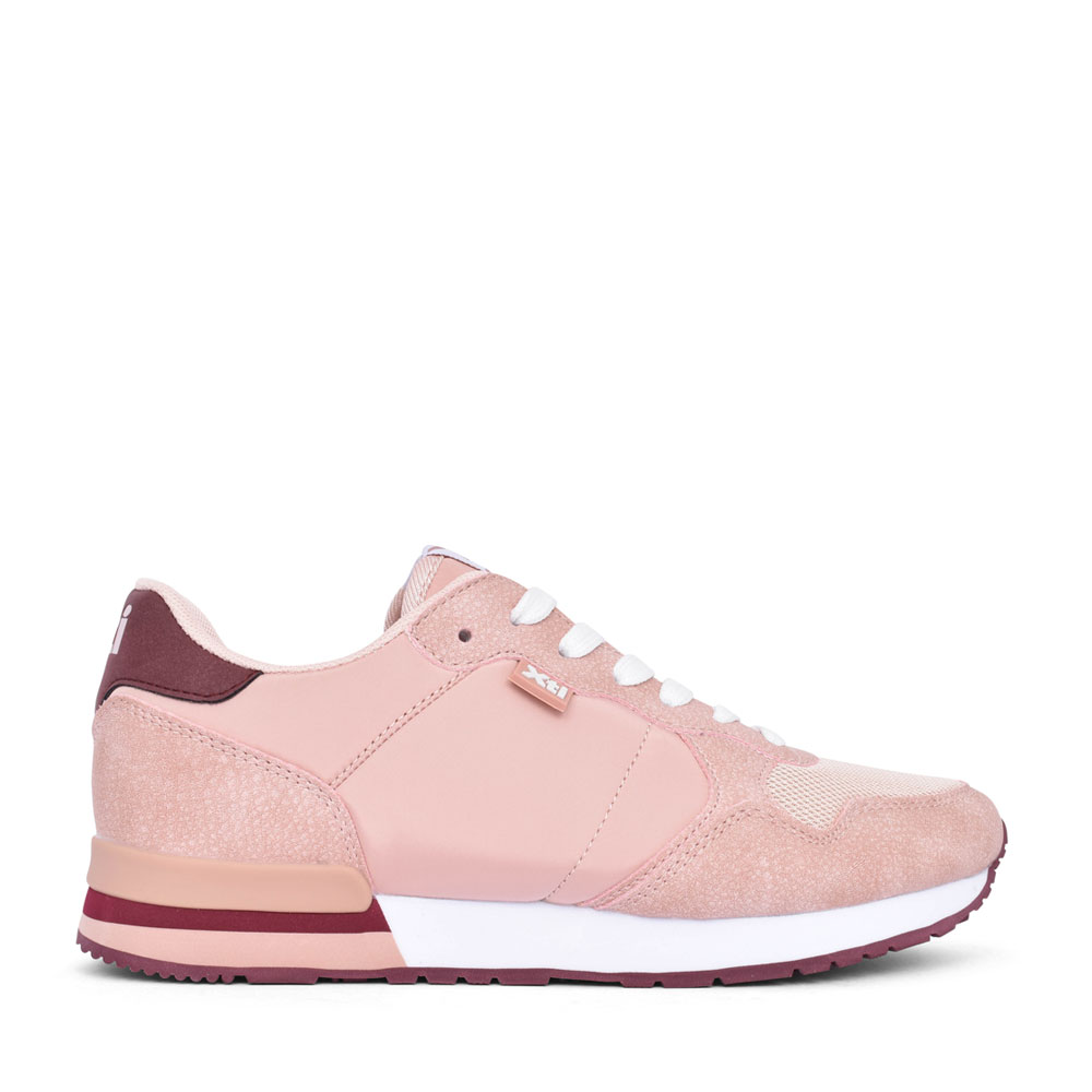 LADIES 42402 LACE UP TRAINER in NUDE