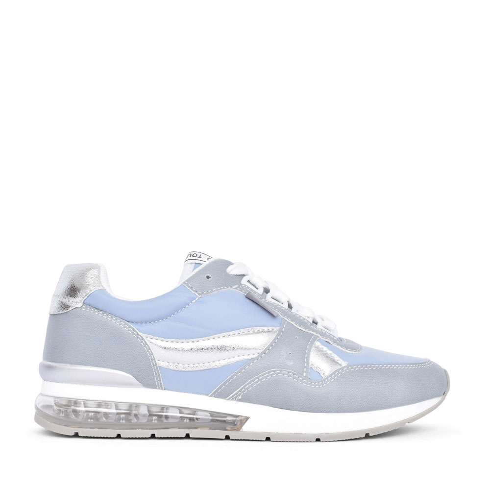 LADIES 42621 LACE UP TRAINER in BLUE