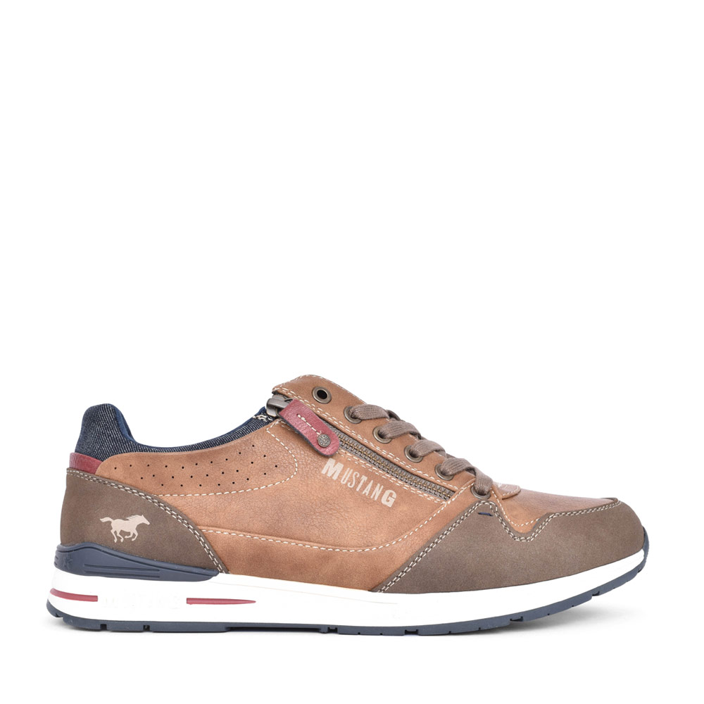 MENS 4154304 LACE UP SHOE in TAN
