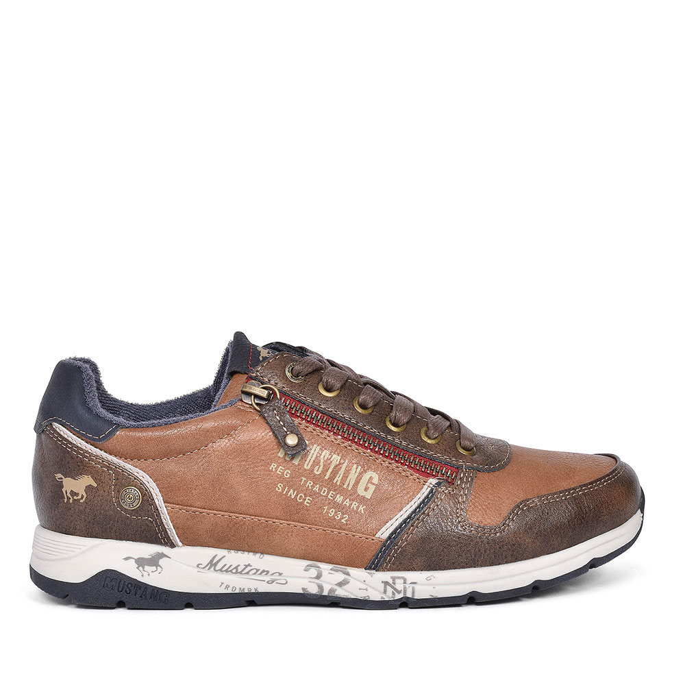 MENS 4106306 LACE UP SHOE in TAN