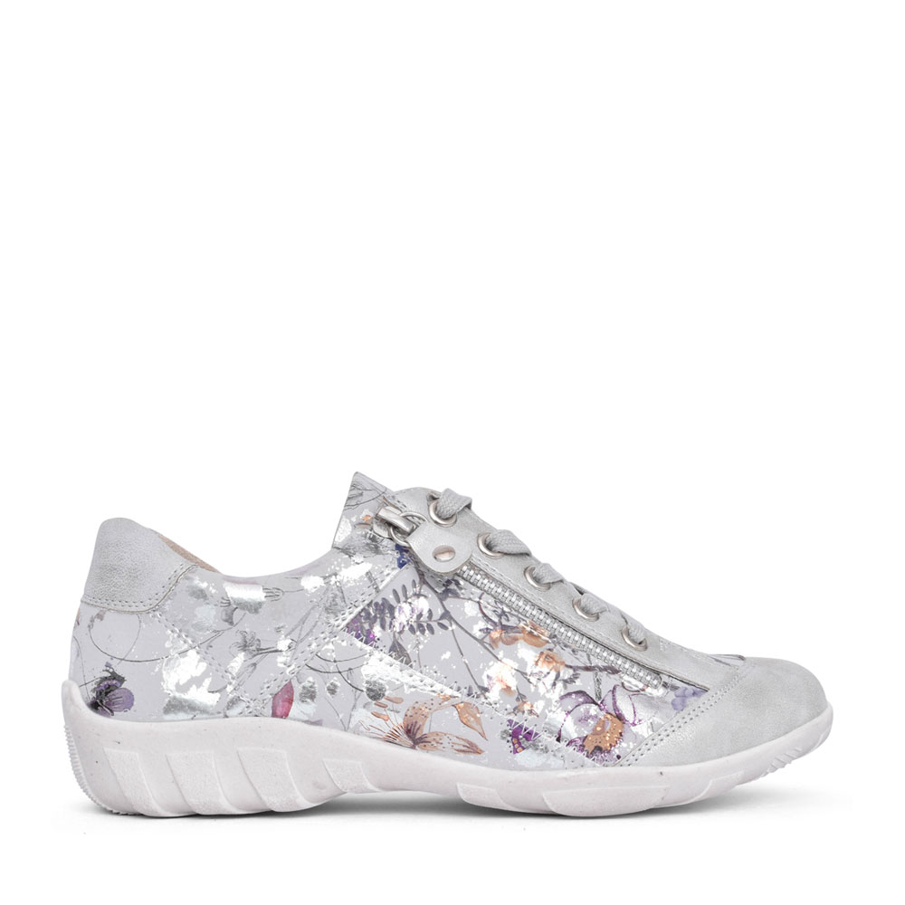 LADIES 02W1 LACE UP SHOE in FLORAL