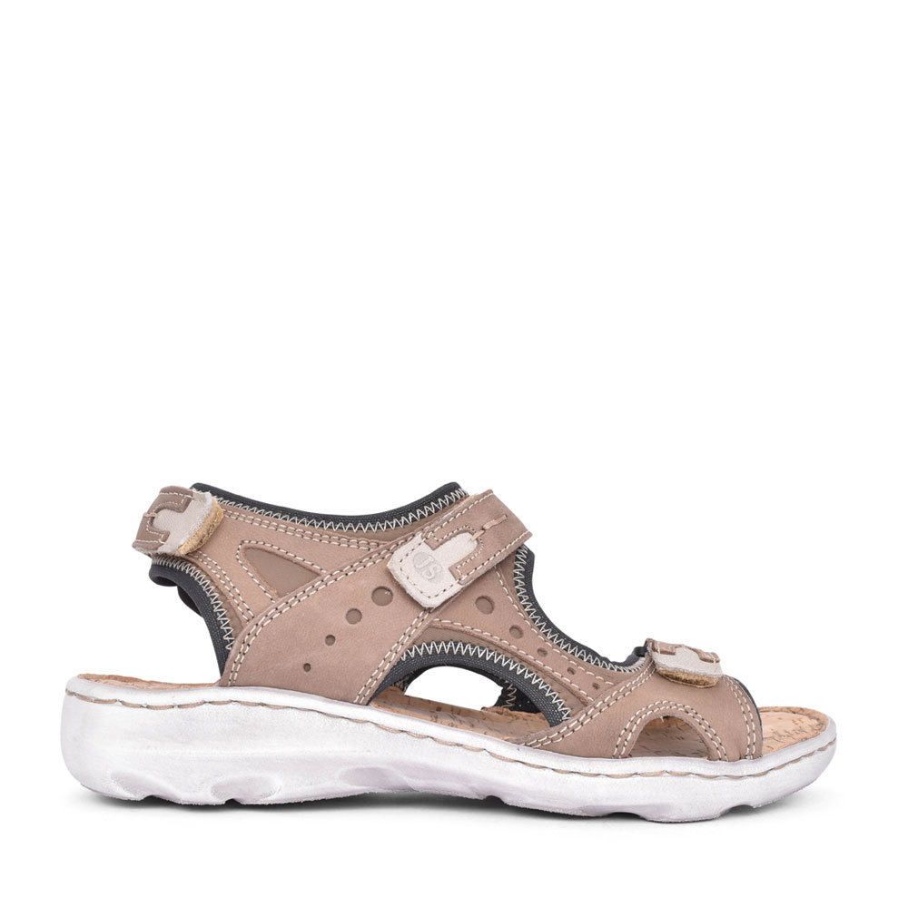LADIES 63502 LENE 02 VELCRO WALKING SANDAL in TAUPE