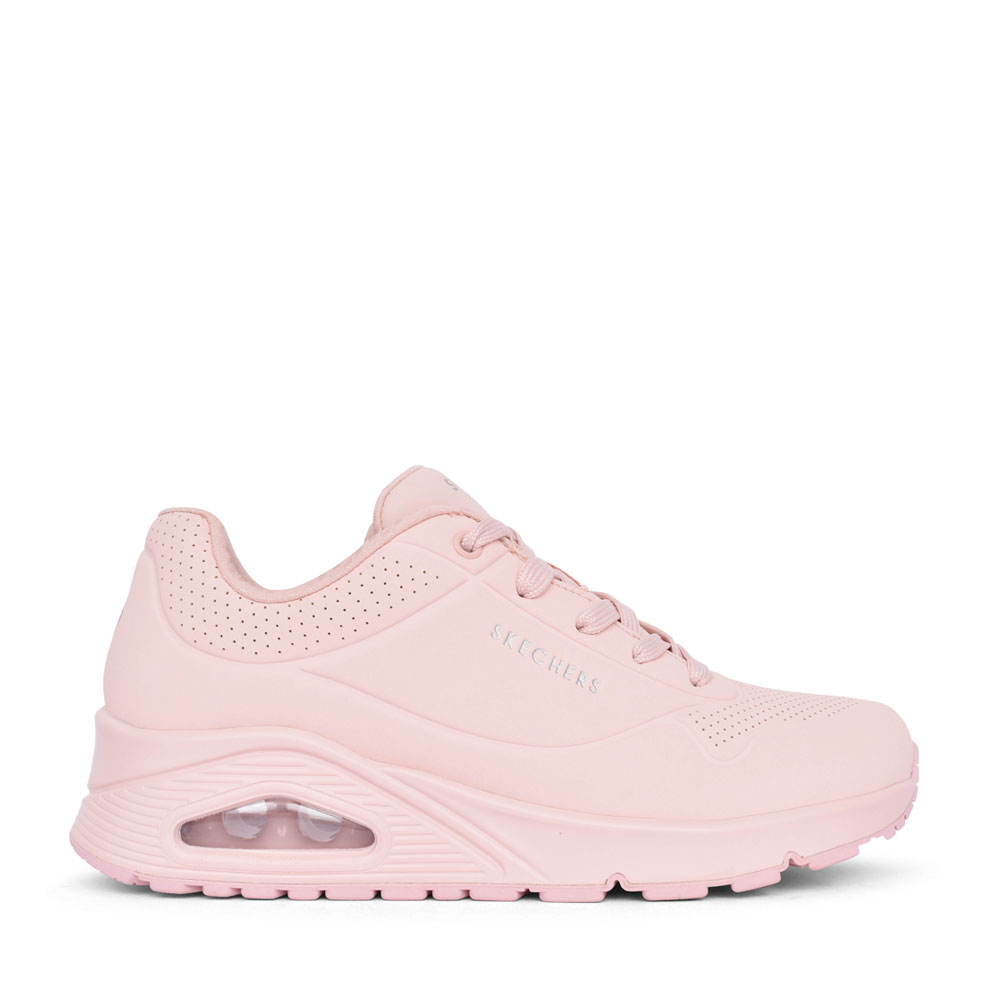 LADIES 155395 UNO FROSTY KICKS LACE UP TRAINER in PINK