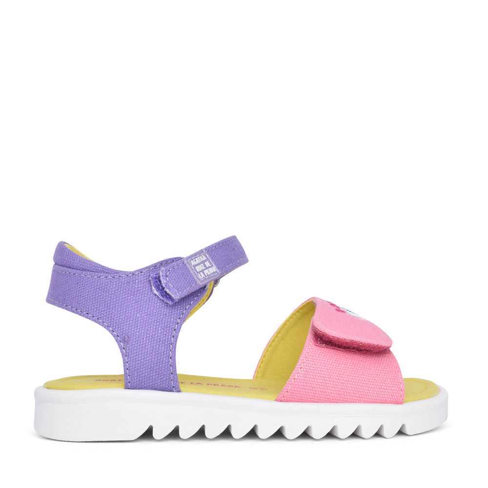 GIRLS 212940 VELCRO SANDAL in PURPLE