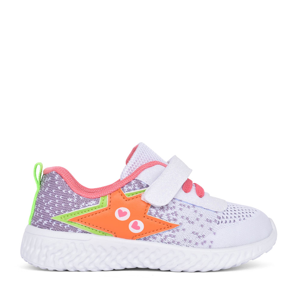 GIRLS 212920 VELCRO TRAINER in WHITE