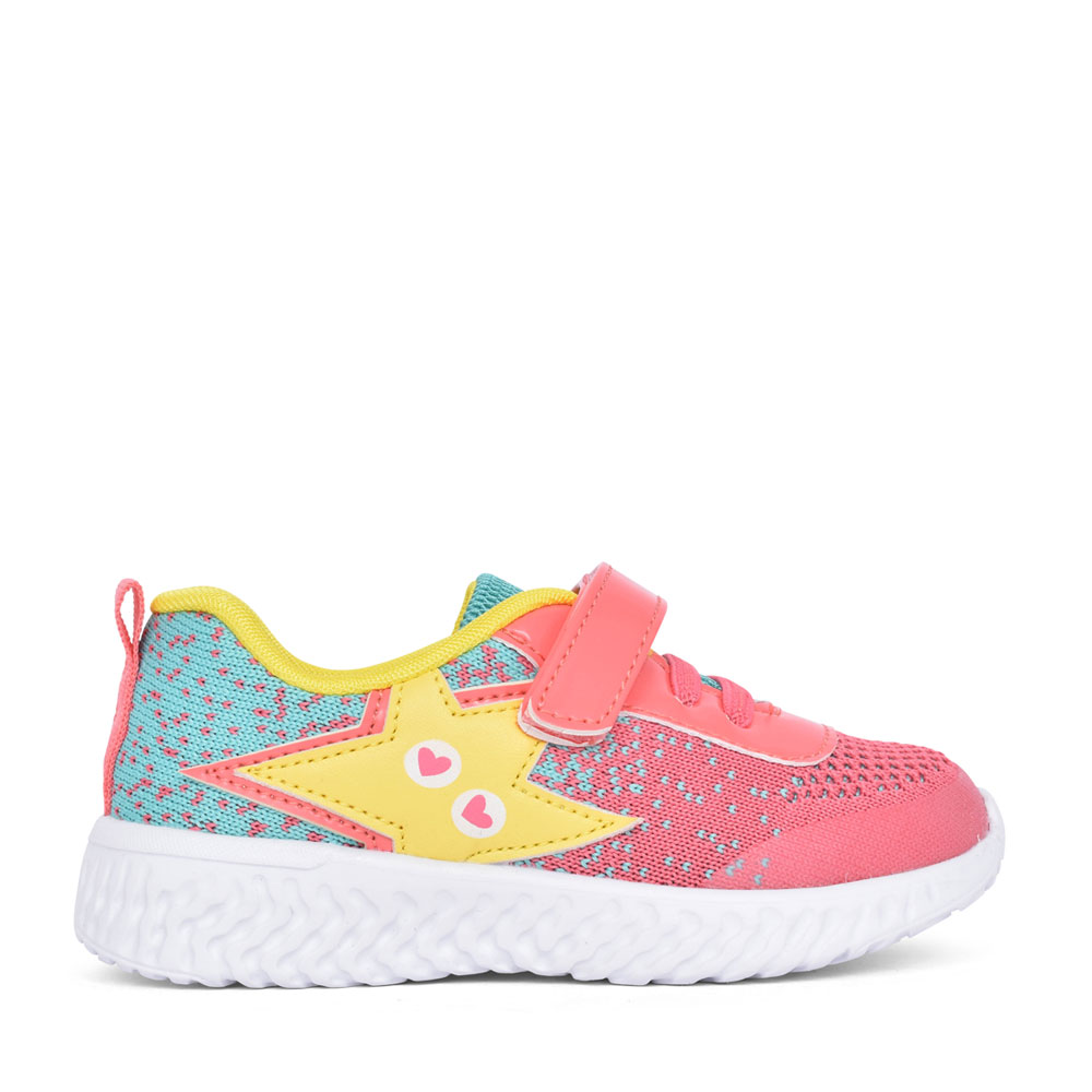 GIRLS 212920 VELCRO TRAINER in PINK