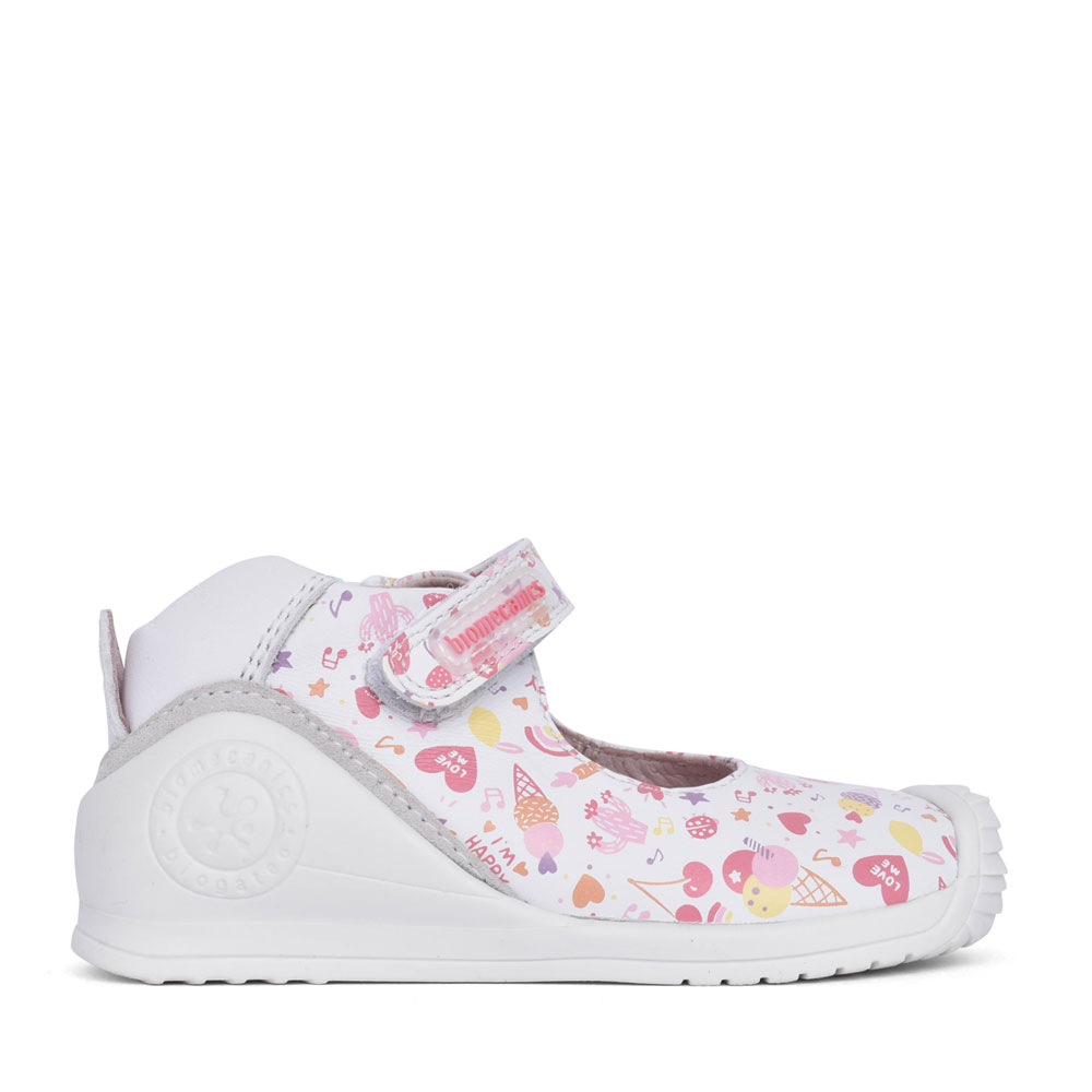 GIRLS 212102 VELCRO SHOE in WHITE