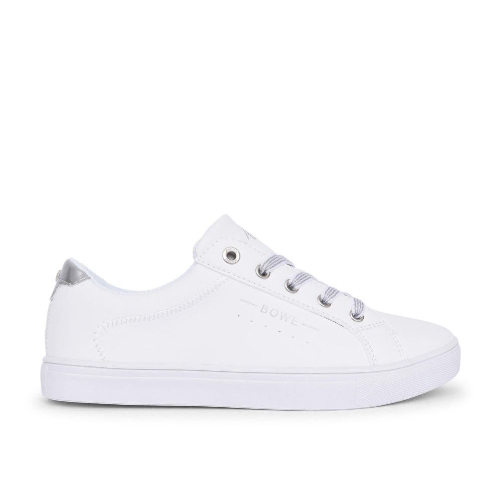 LADIES WOODMAN LACE UP SHOE in WHITE