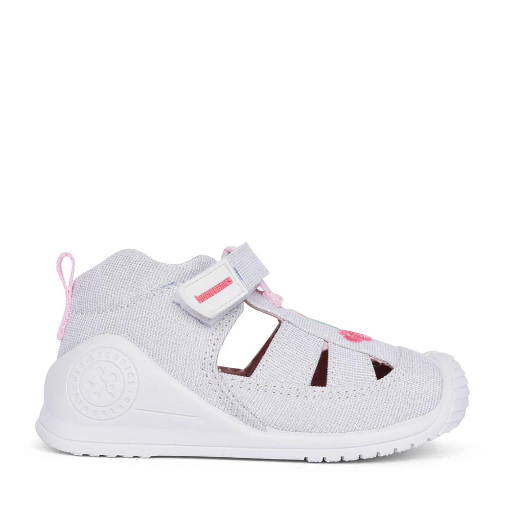 GIRLS 212213 VELCRO CUT OUT SHOE in WHITE