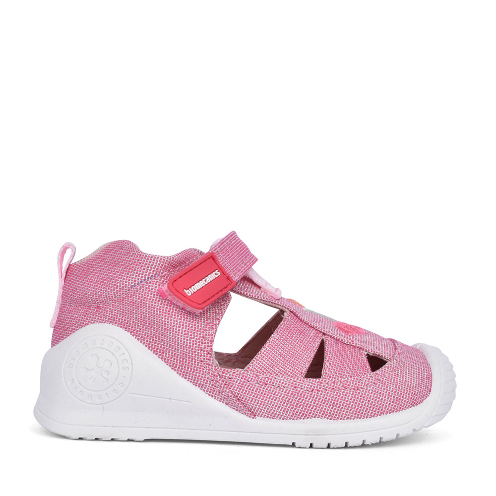 GIRLS 212213 VELCRO CUT OUT SHOE in PINK