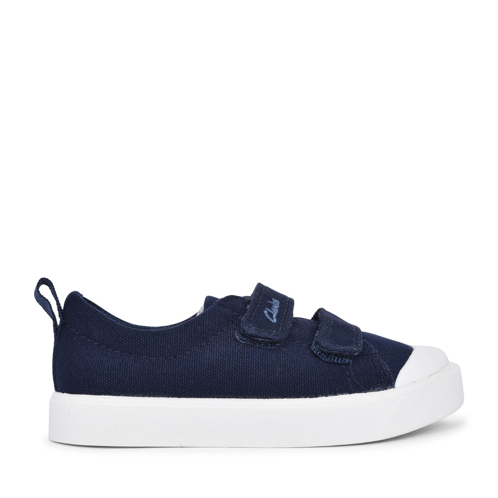 BOYS TODDLER CITY BRIGHT NAVY CANVAS SHOE in KIDS F FIT