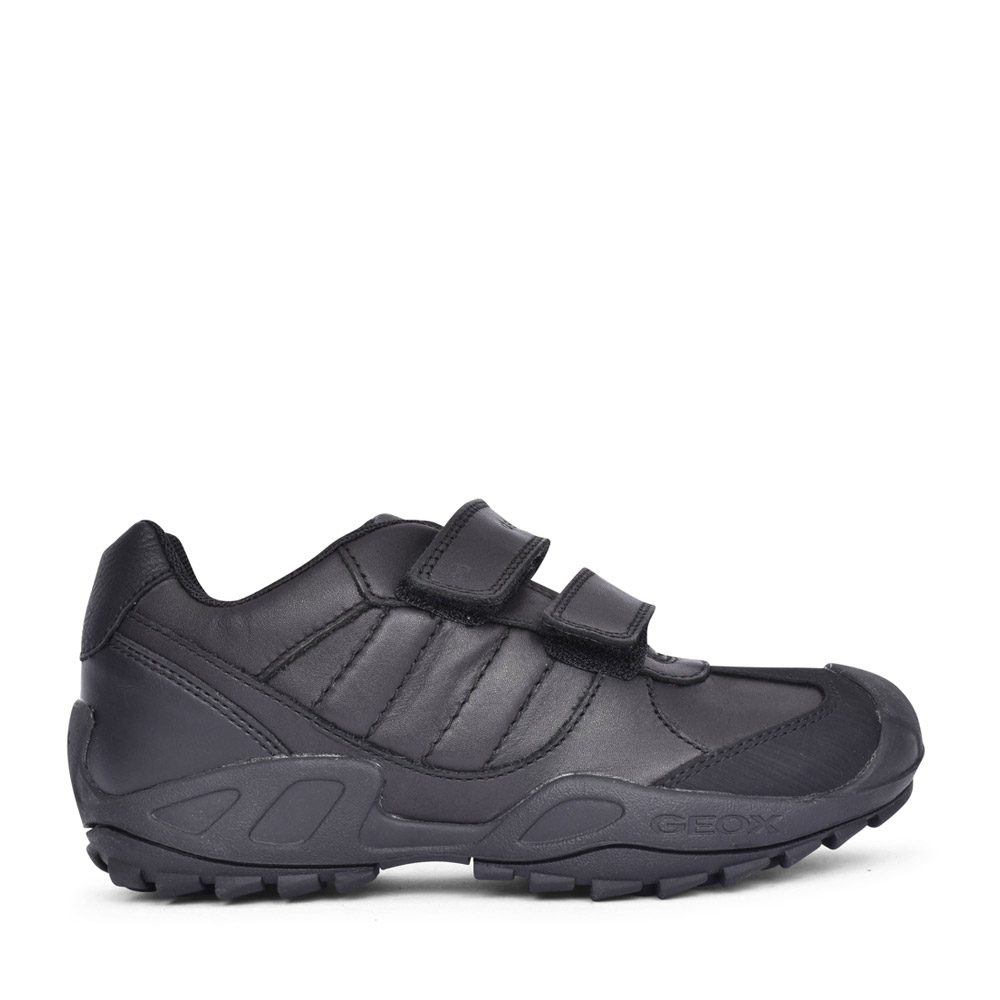 BOYS J841VB NEW SAVAGE VELCRO SHOE in BLK LEATHER