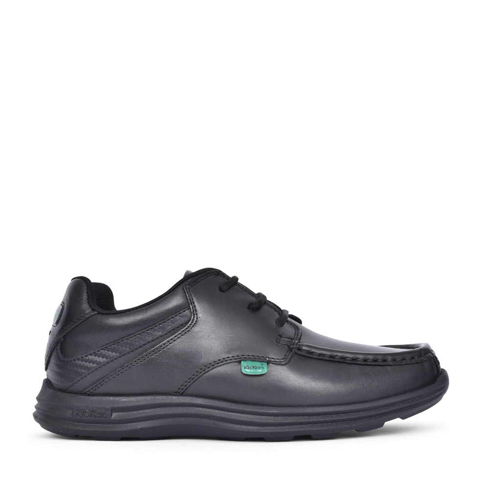 BOYS REASAN L YM LEATHER SHOE in BLK LEATHER