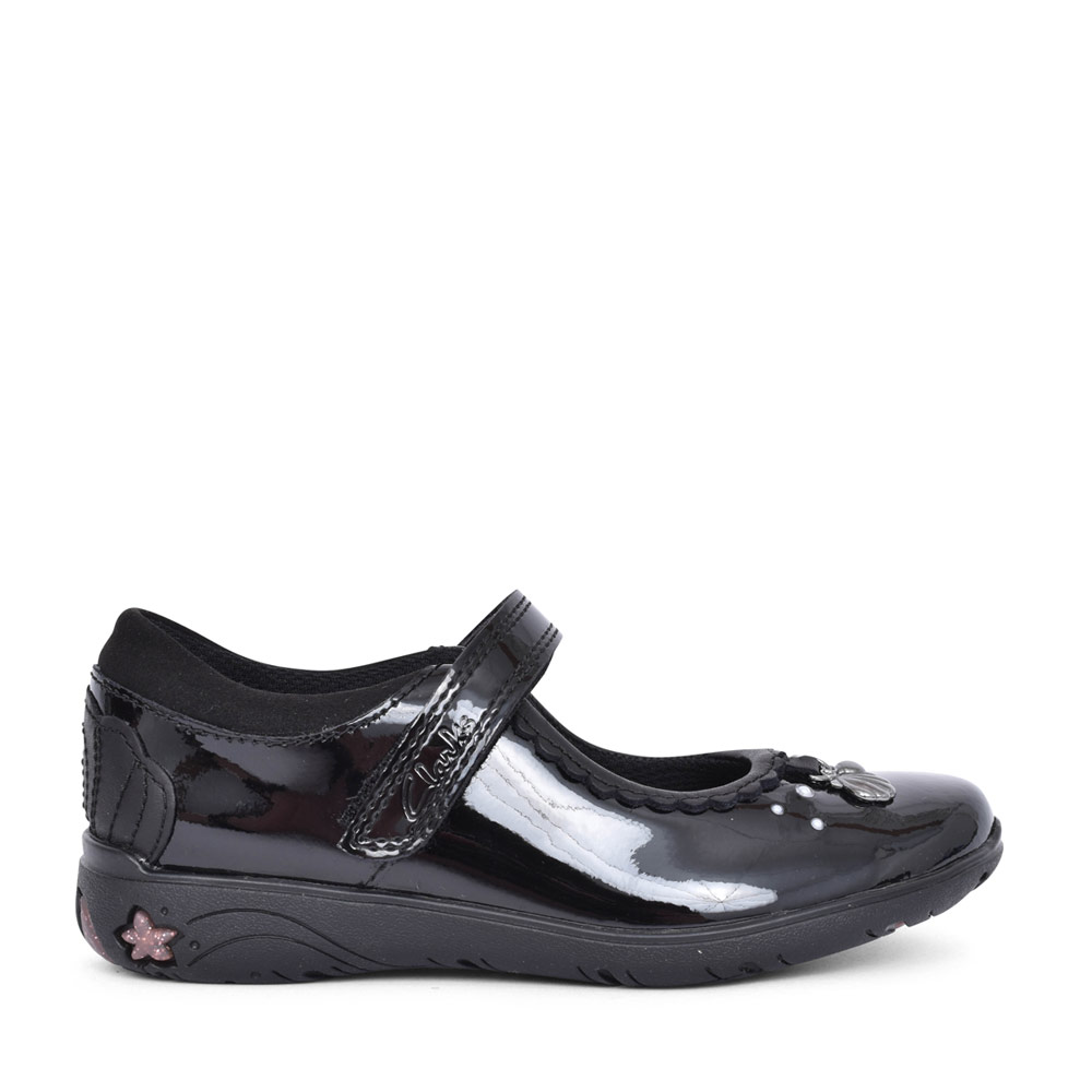 GIRLS SEA SHIMMER BLACK PATENT MARY JANE SHOE in KIDS F FIT