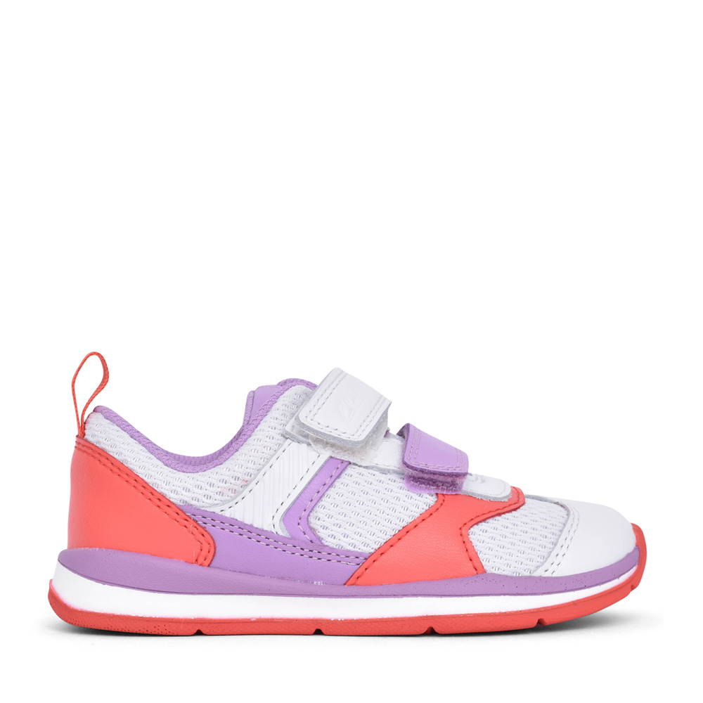 GIRLS LILAC COMBI LEATHER VELCRO TR in KIDS F FIT