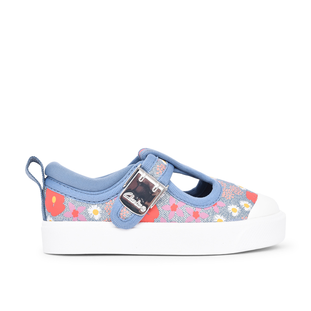 GIRLS CITY DANCE BLUE FLORAL CANVAS  SHOE in KIDS G FIT
