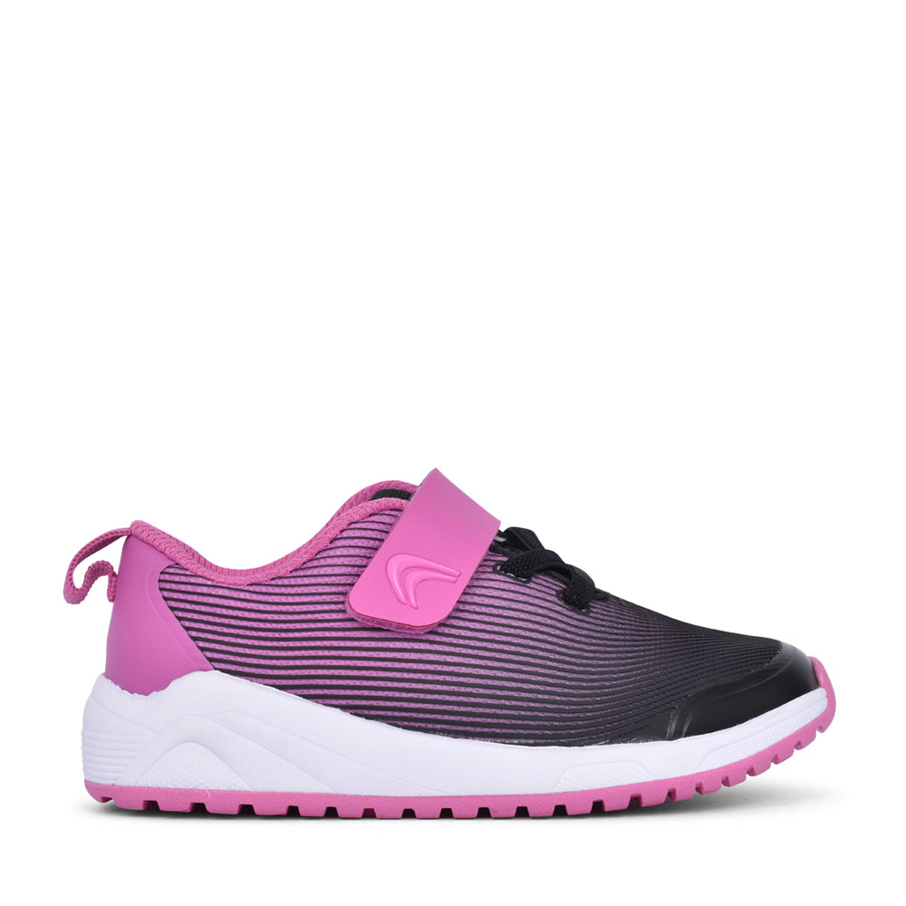 GIRLS AEON PACE PINK TEXTILE VELCRO TRAINER in KIDS F FIT