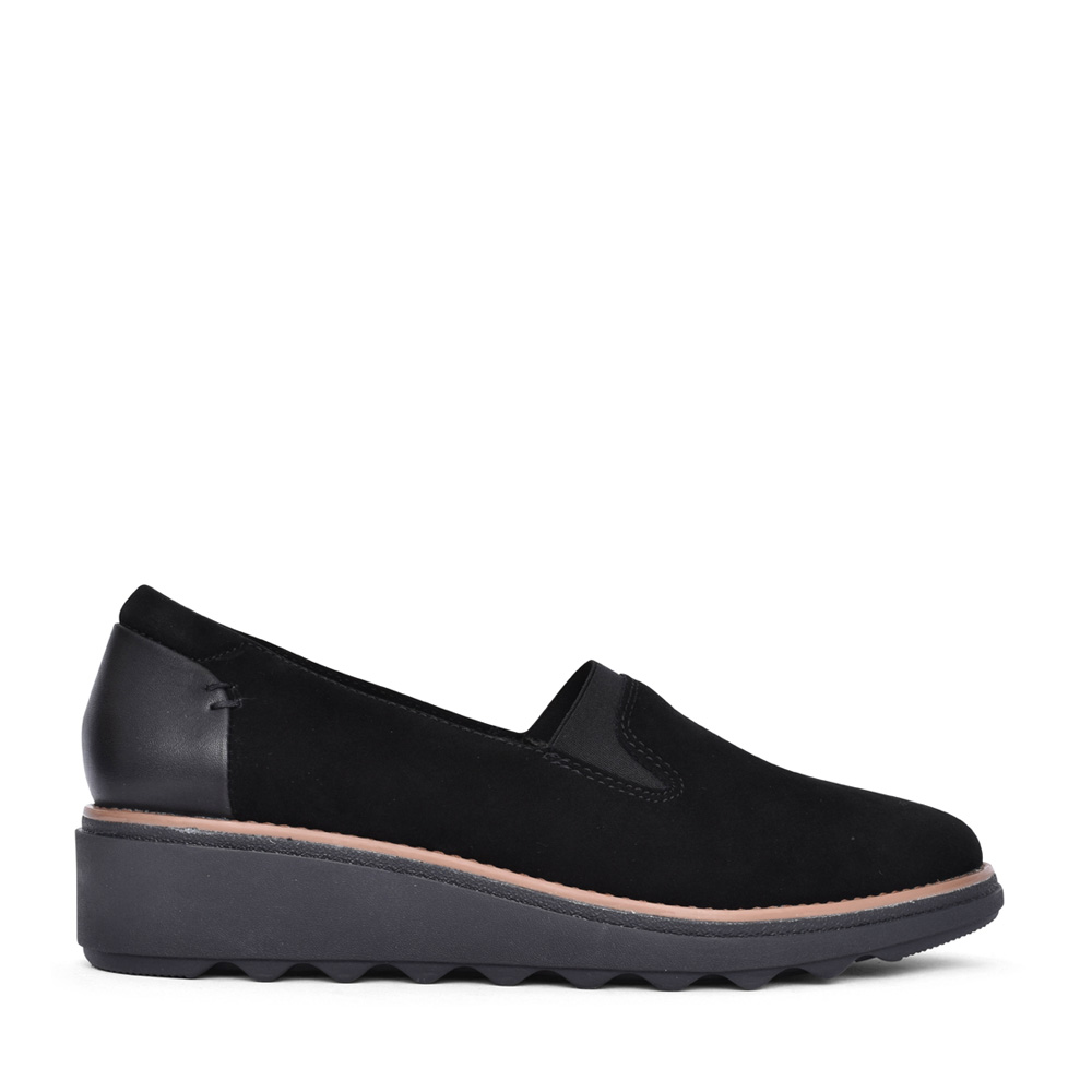 LADIES SHARON DOLLY SUEDE D-FIT SHOE in BLACK