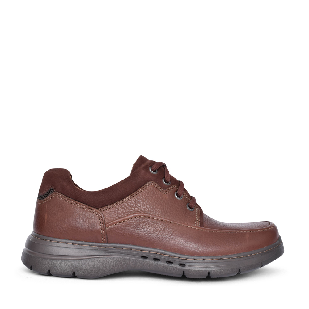 MEN'S UN BRAWLEYLACE LEATHER H-FIT SHOE in BROWN