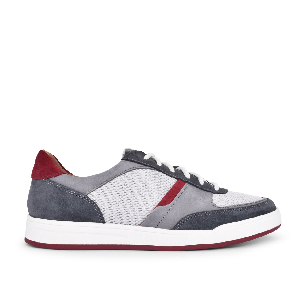 MENS BIZBY LACE COMBI G-FIT SHOE in DARK GREY