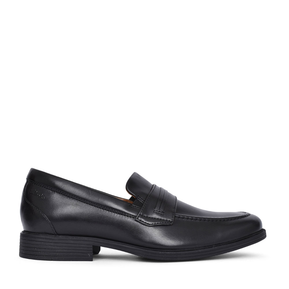 MENS WHIDDON LOAF LEATHER G-FIT SHOE in BLK LEATHER