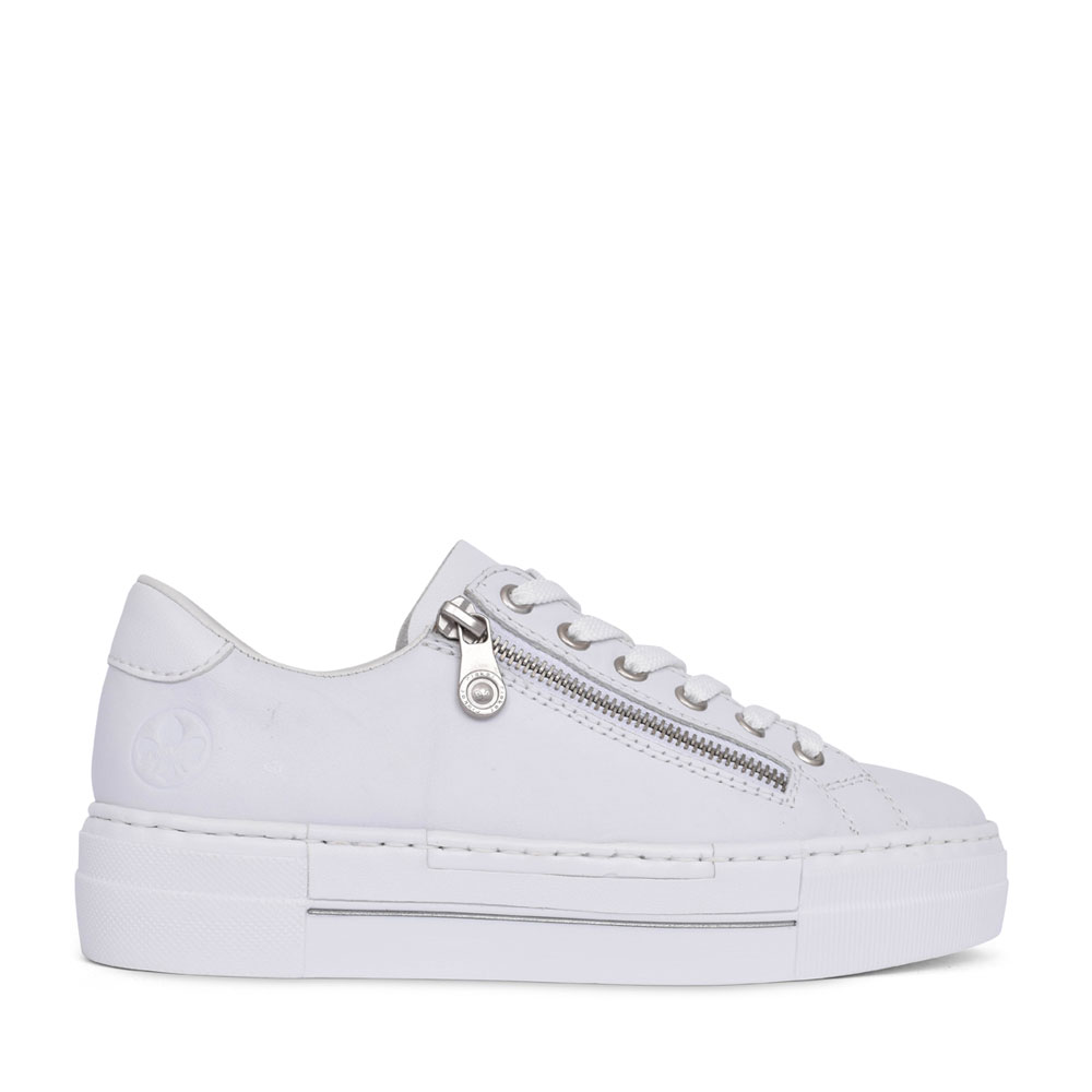 LADIES N4921 LACE UP SHOE in WHITE