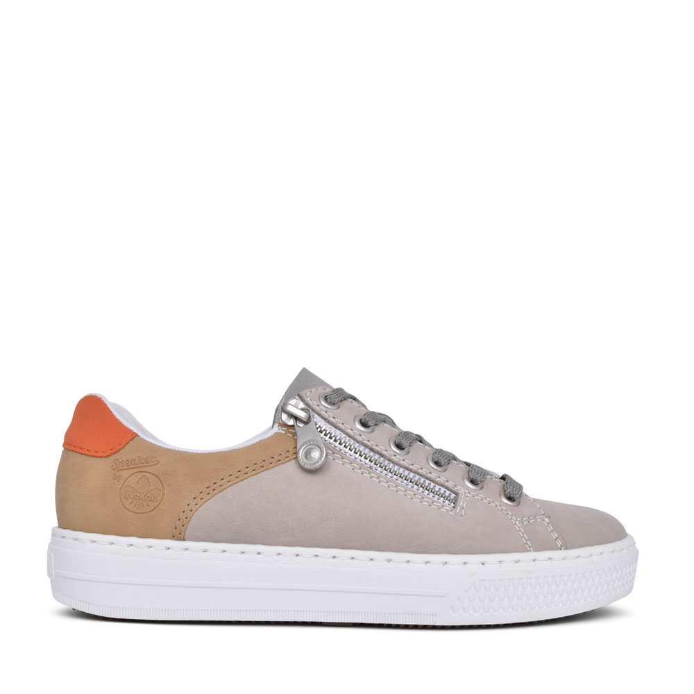 LADIES L59A1 LACE UP TRAINER in GREY