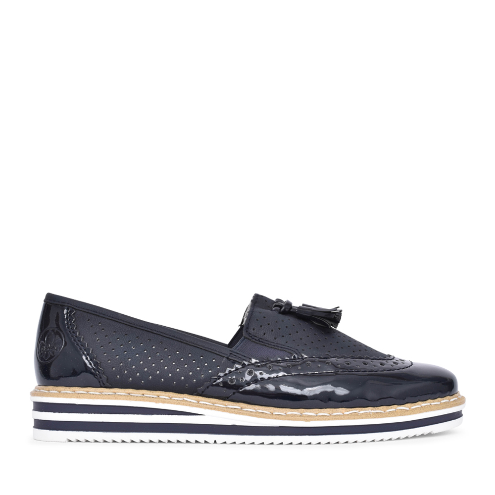 LADIES SLIP ON SHOE in NAVY