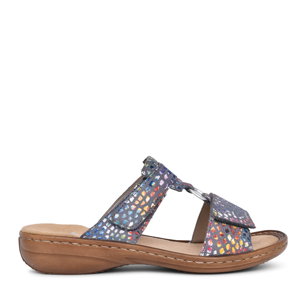 LADIES 608P9 VELCRO MULE in MULTI-COLOUR