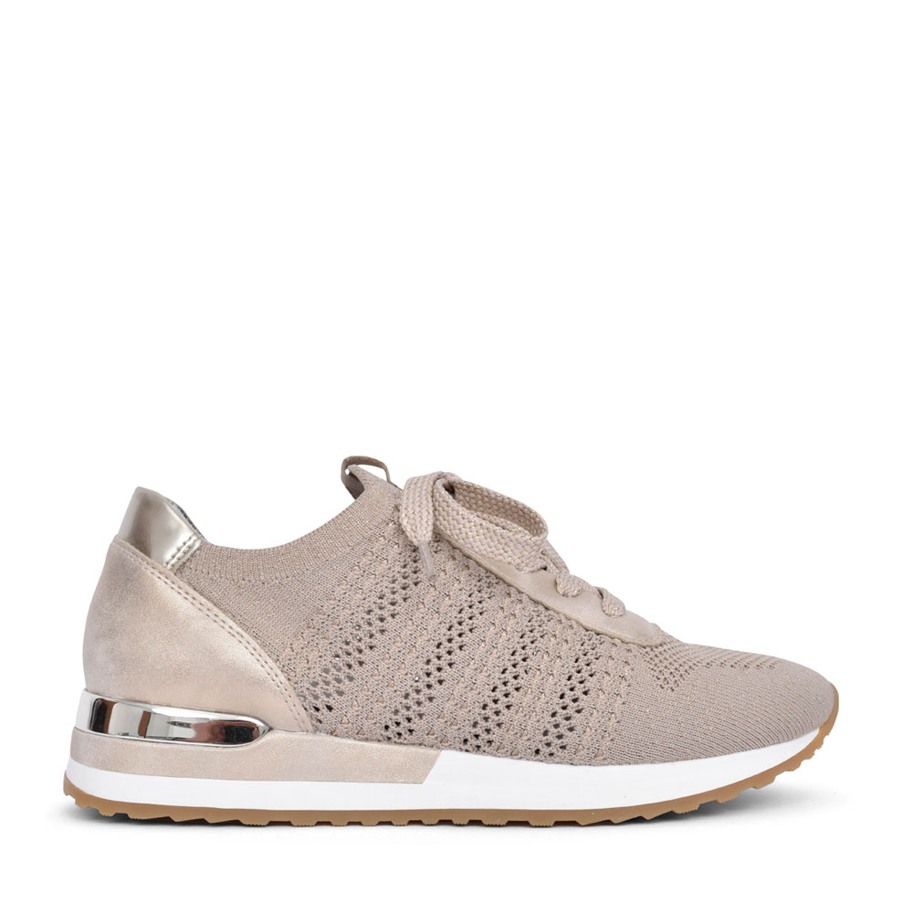 LADIES R2507 LACE UP TRAINER in GOLD