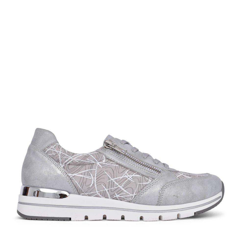 LADIES R6700 LACE UP WEDGE SHOE in SILVER