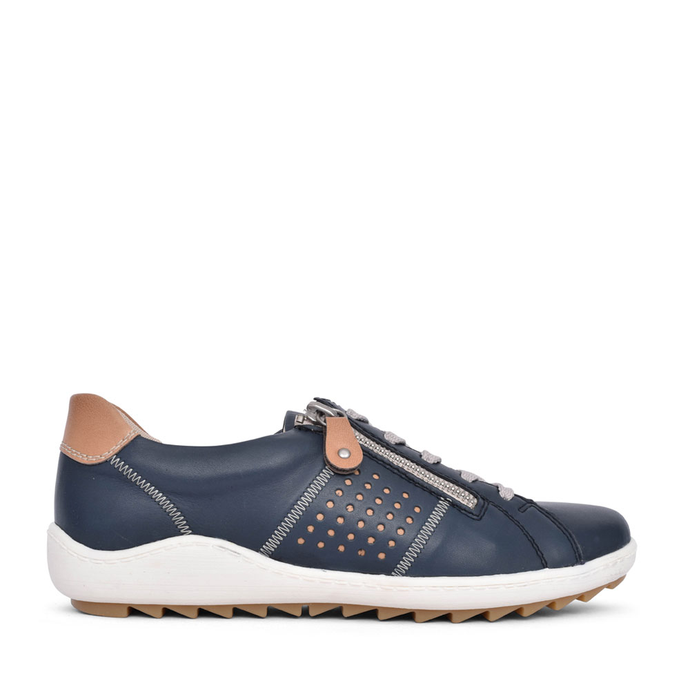 LADIES R1417 LACE UP SHOE in NAVY