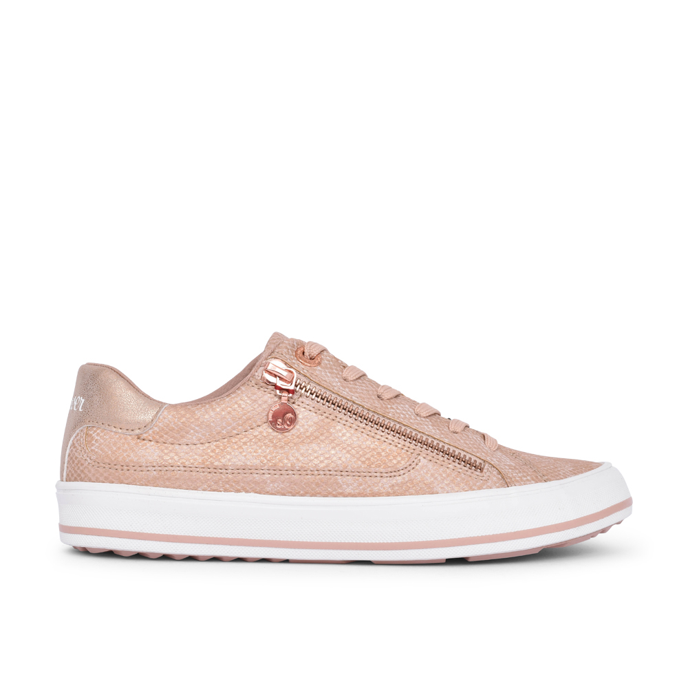 LADIES 5-23615 LACE UP SHOE in ROSE