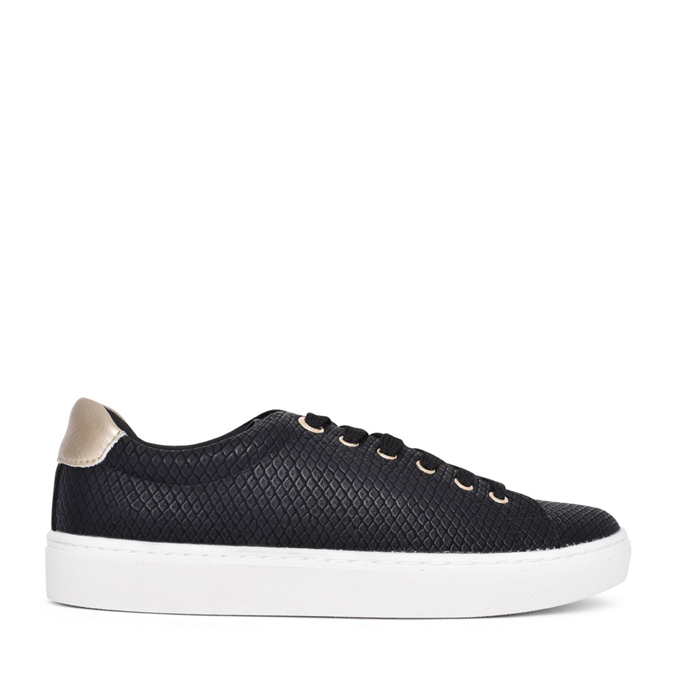 LADIES 5-23625 LACE UP SHOE in BLACK