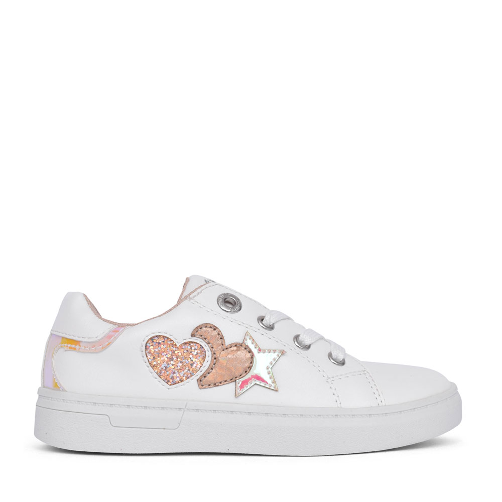 GIRLS 5-33206 LACE UP SHOE in WHITE