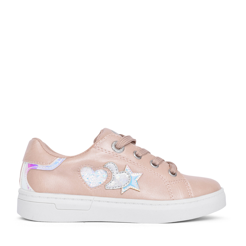 GIRLS 5-33206 LACE UP SHOE in NUDE