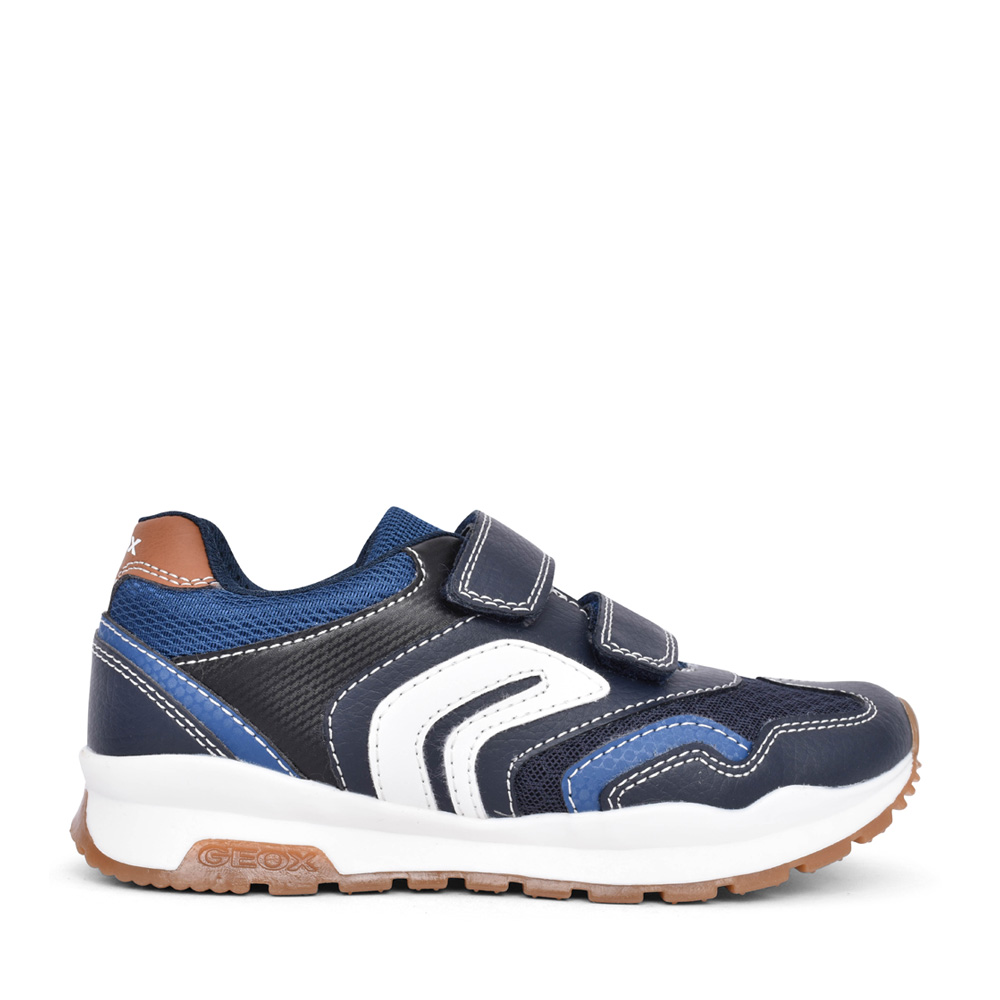 BOYS J0415A PAVEL VELCRO TRAINER in NAVY