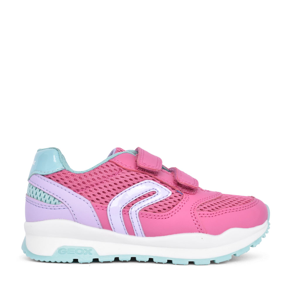 BOYS J048CA PAVEL VELCRO TRAINER in PINK
