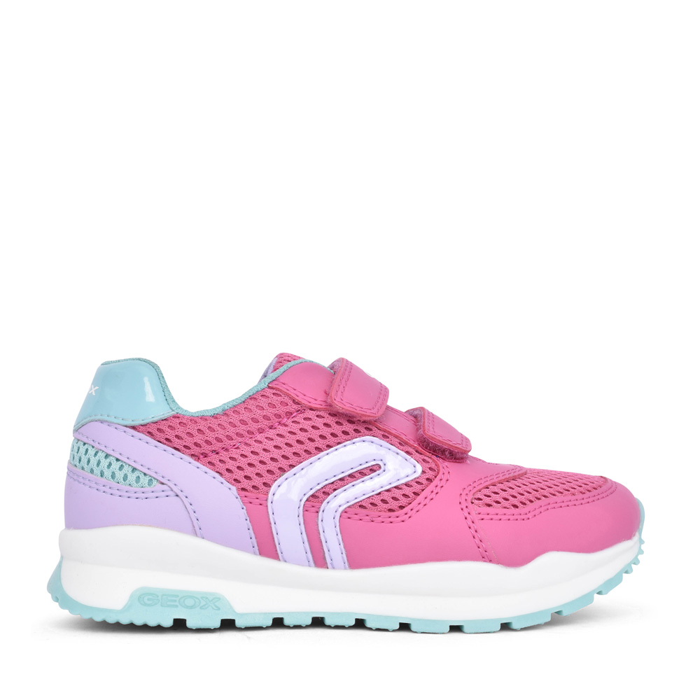 GIRLS J048CA PAVEL VELCRO TRAINER in PINK
