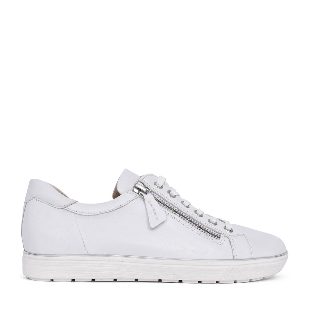 LADIES 9-23606 LACE UP SHOE in WHITE