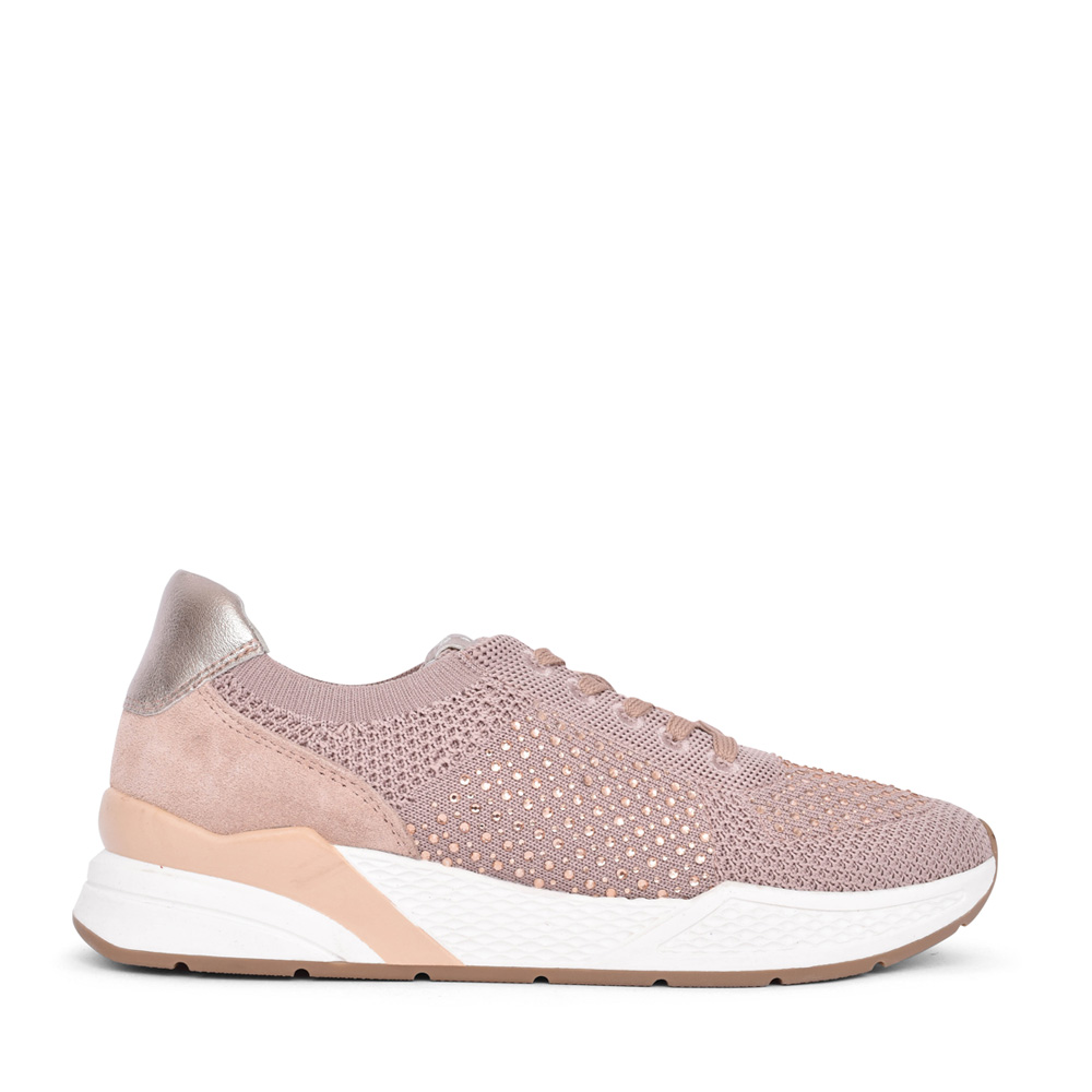 LADIES 2-23733 LACE UP TRAINER in ROSE
