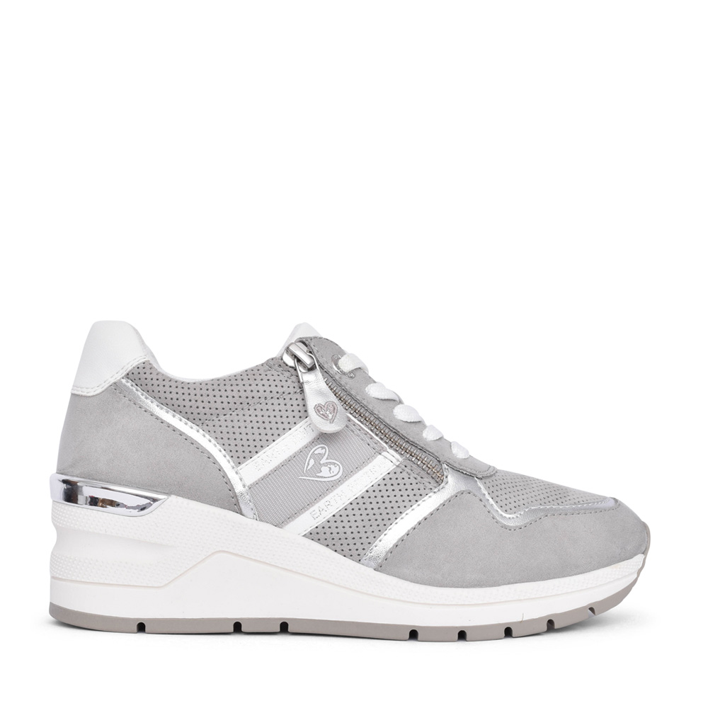 LADIES 2-23777 LACE UP SHOE in GREY