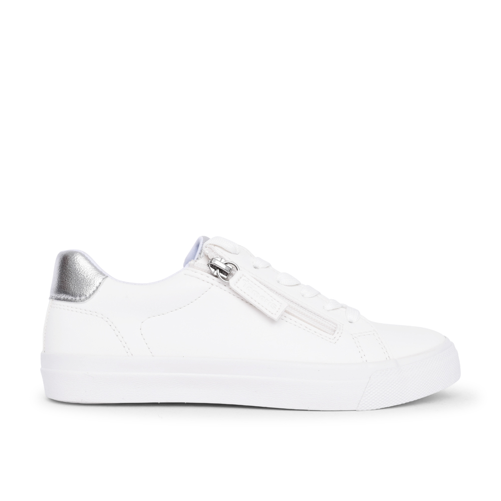 LADIES 1-23610 LACE UP SHOE in WHITE