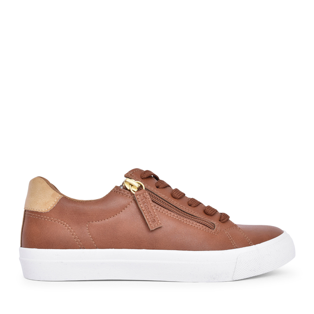 LADIES 1-23610 LACE UP SHOE in TAN