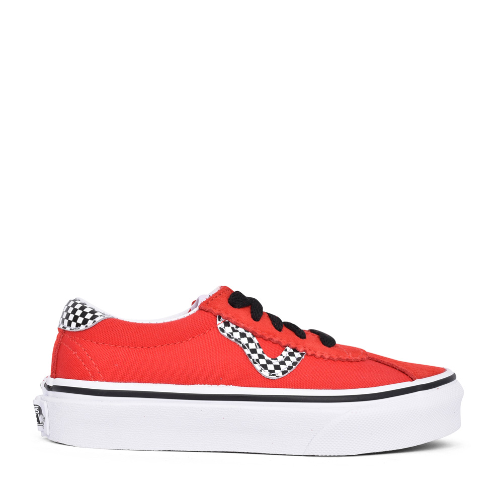 BOYS VANS SPORT CHECKERBOARD LACE UP SHOE in RED