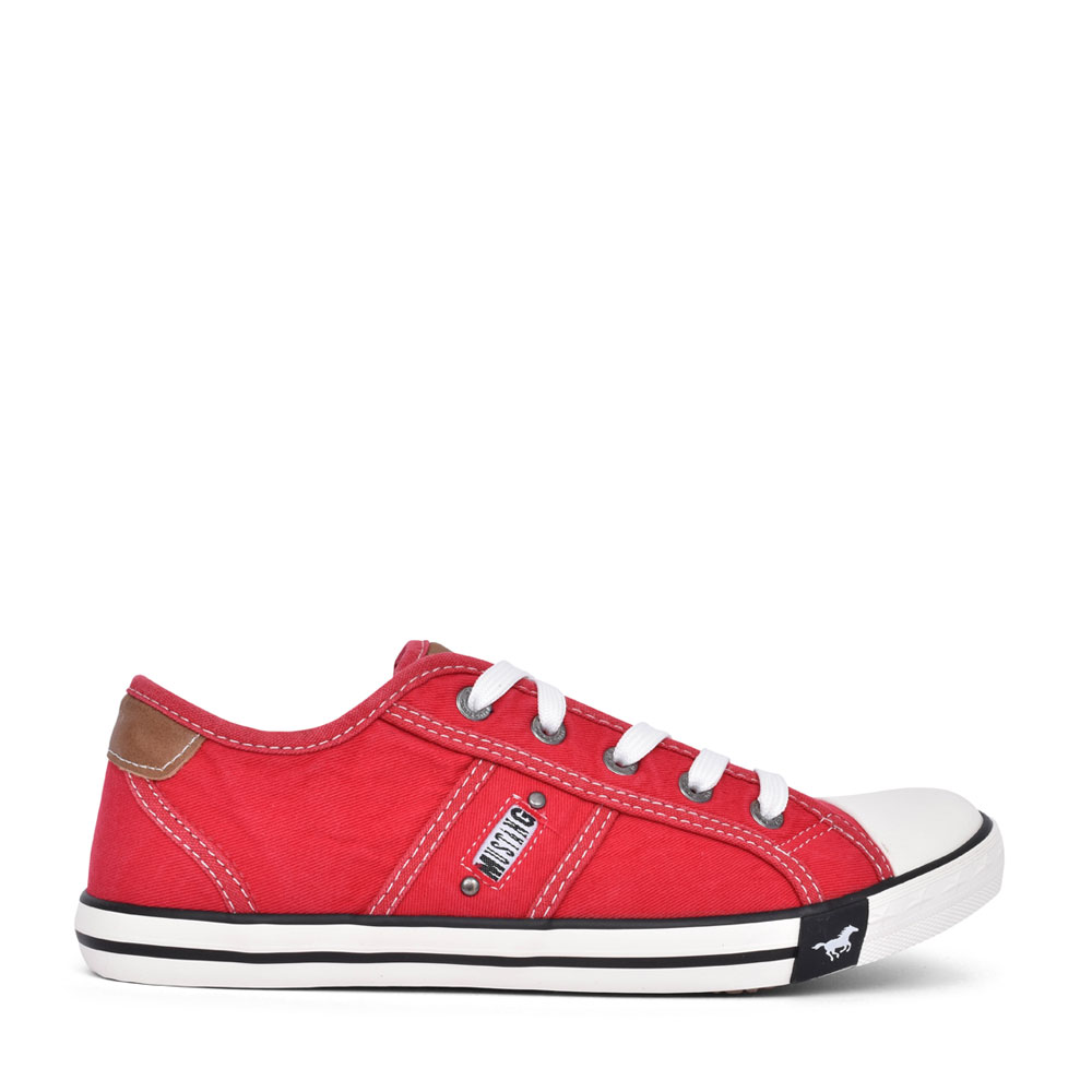 LADIES 1099302 LACE UP SHOE in RED